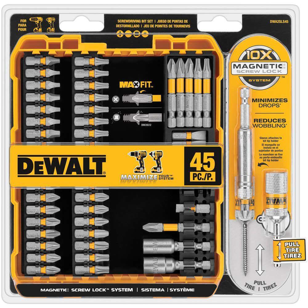 Dewalt Maxfit Screwdriving Set 45 Piece Dwa2sls45 The