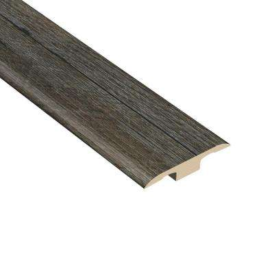 Oak Graphite 1/4 in. Thick x 1-3/8 in. Wide x 94-1/2 in. Length Vinyl T-Molding