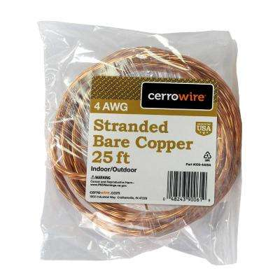 25 ft. 4/1 Stranded Bare Copper Grounding Wire