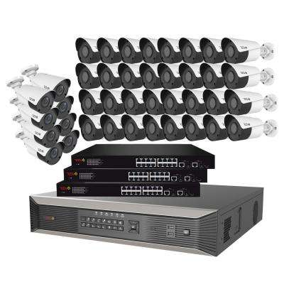 64-Channel 4K SMART NVR, 16TB and 40X True 4K Ultra Plus Wired Security System wtih Indoor/Outdoor IR Bullet Cameras