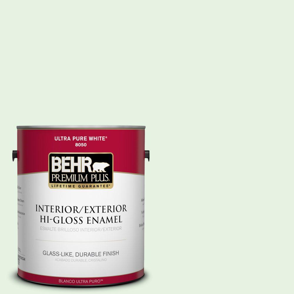 BEHR Premium Plus 1-gal. #440A-2 Sea Cap Hi-Gloss Enamel Interior/Exterior Paint