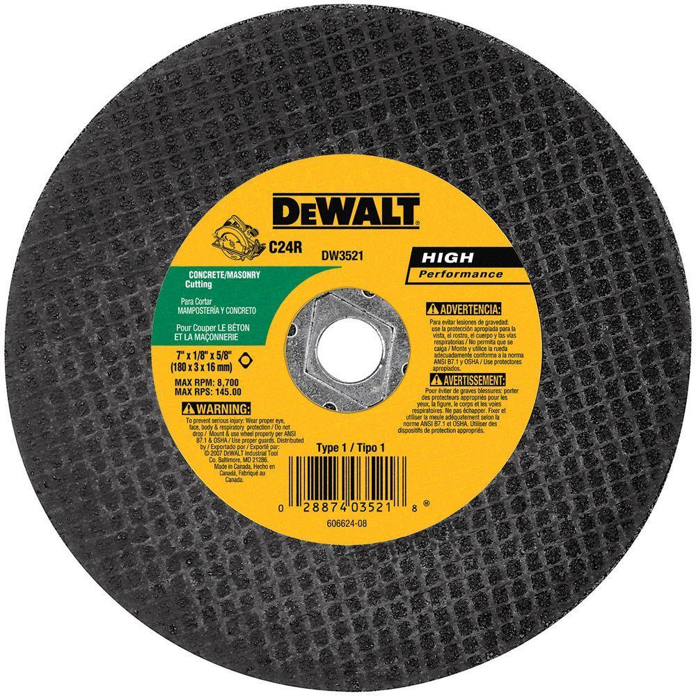 Dewalt 7 inch x 1/8 inch Masonry Abrasive Saw Blade Bulk by DEWALT