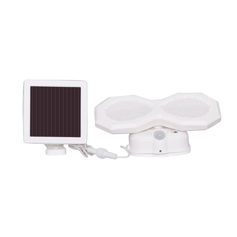 Solar White Outdoor Integrated LED Flood Light