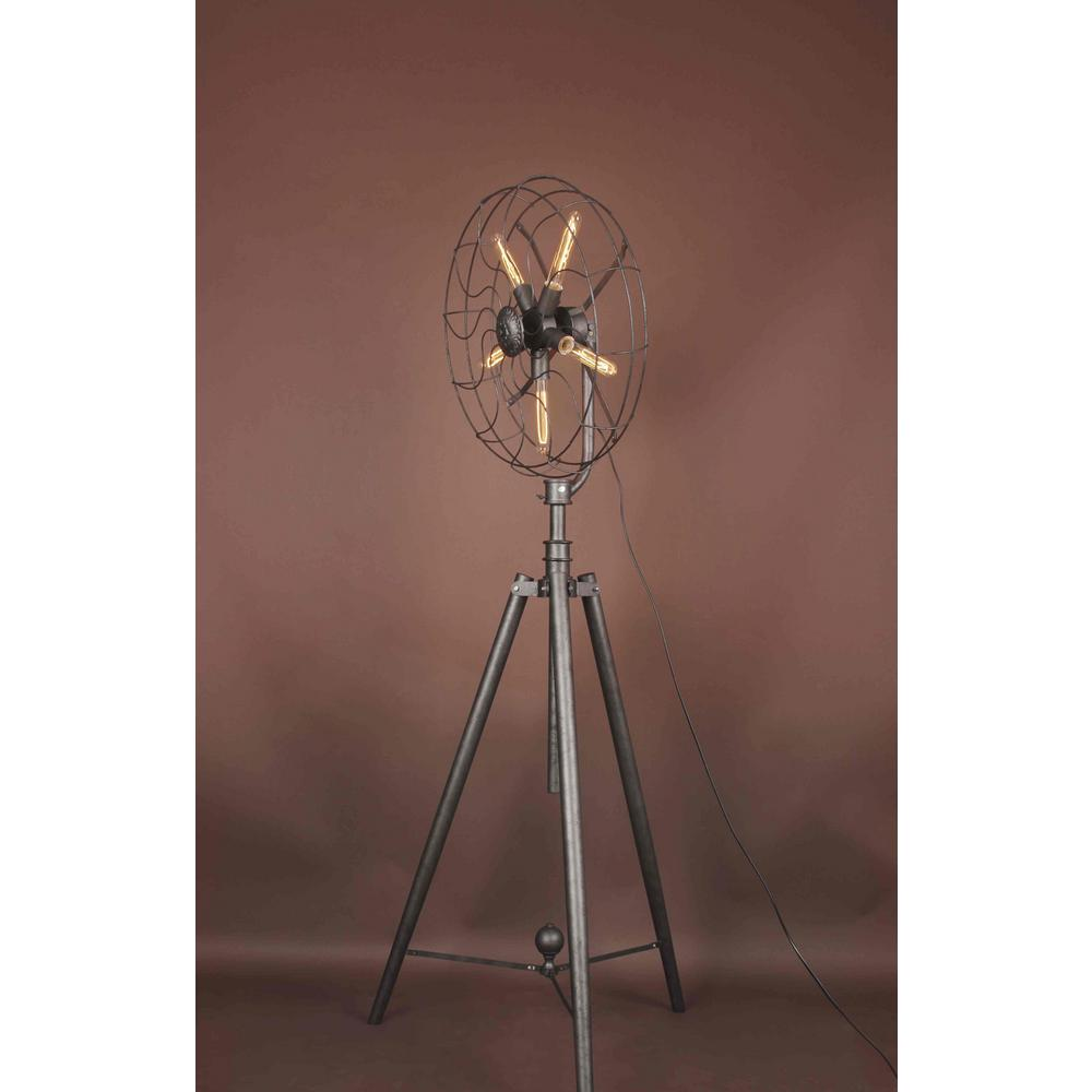 CWI Lighting Pamela 68 in. Black Floor Lamp