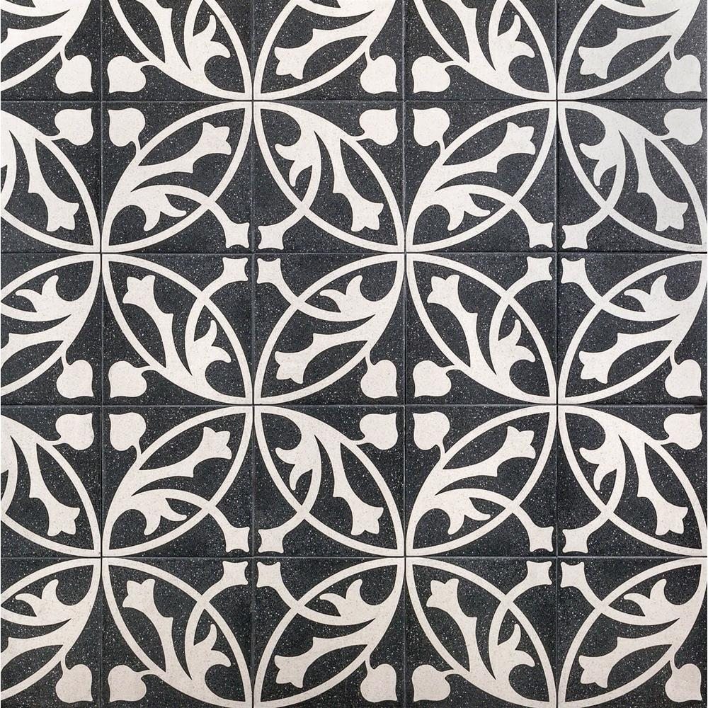 Ivy Hill Tile Branwell Er Nero 9 In X 9 In X 11mm Matte Porcelain Floor And Wall Tile 10 76 Sq Ft Box