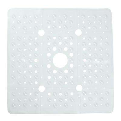 27 in. x 27 in. Extra Large Square Shower Mat in Clear