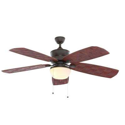 Rocio 60 in. Natural Iron Indoor/Outdoor Ceiling Fan with Light Kit