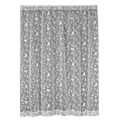 Bristol Garden White Lace Curtain 60 in. W x 96 in. L