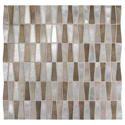Premier Accents Desert Trapezoid 11 in. x 12 in. x 8 mm Metal Mosaic Wall Tile (0.96 sq. ft. / piece)