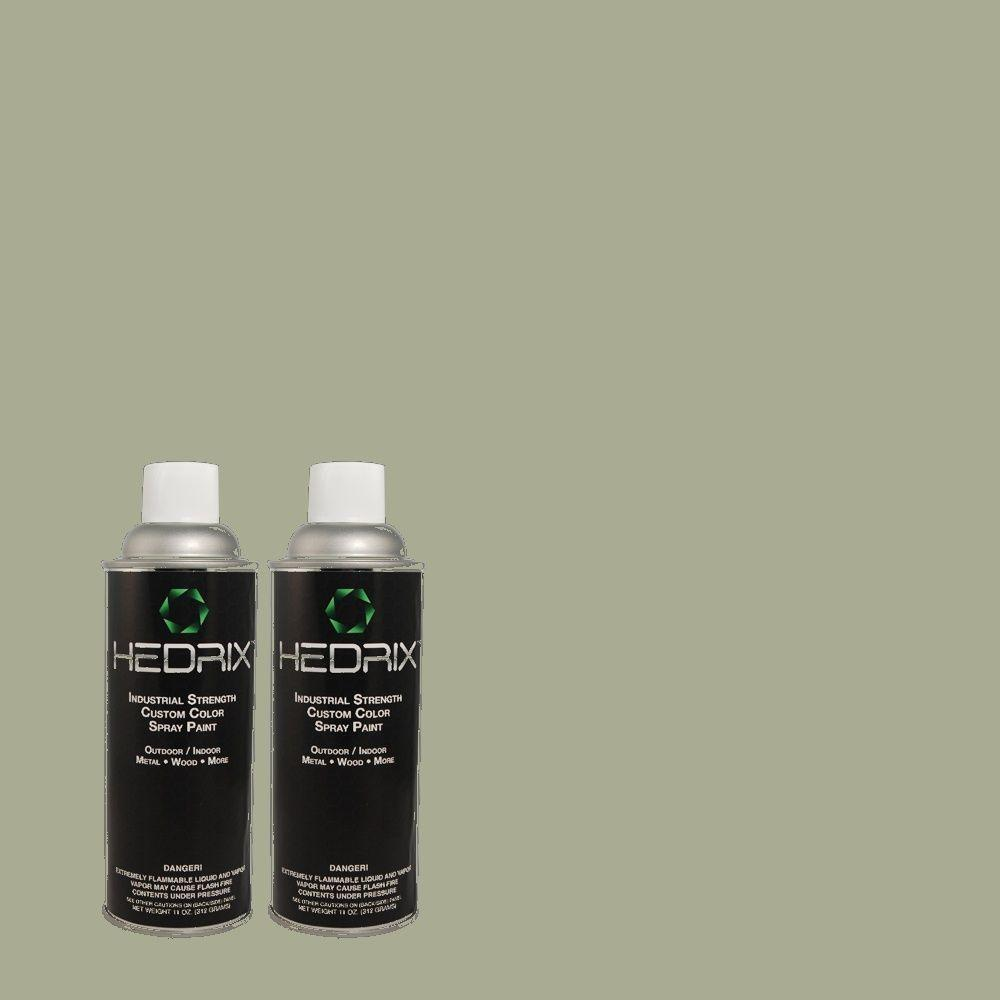 Hedrix 11 oz. Match of MQ6-17 Green Trellis Flat Custom Spray Paint (2-Pack)
