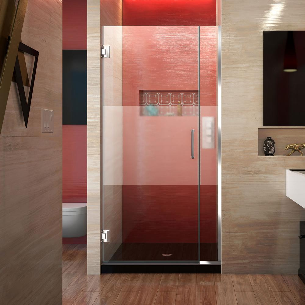 Unidoor Plus 33.5 to 34 in. x 72 in. Frameless Hinged