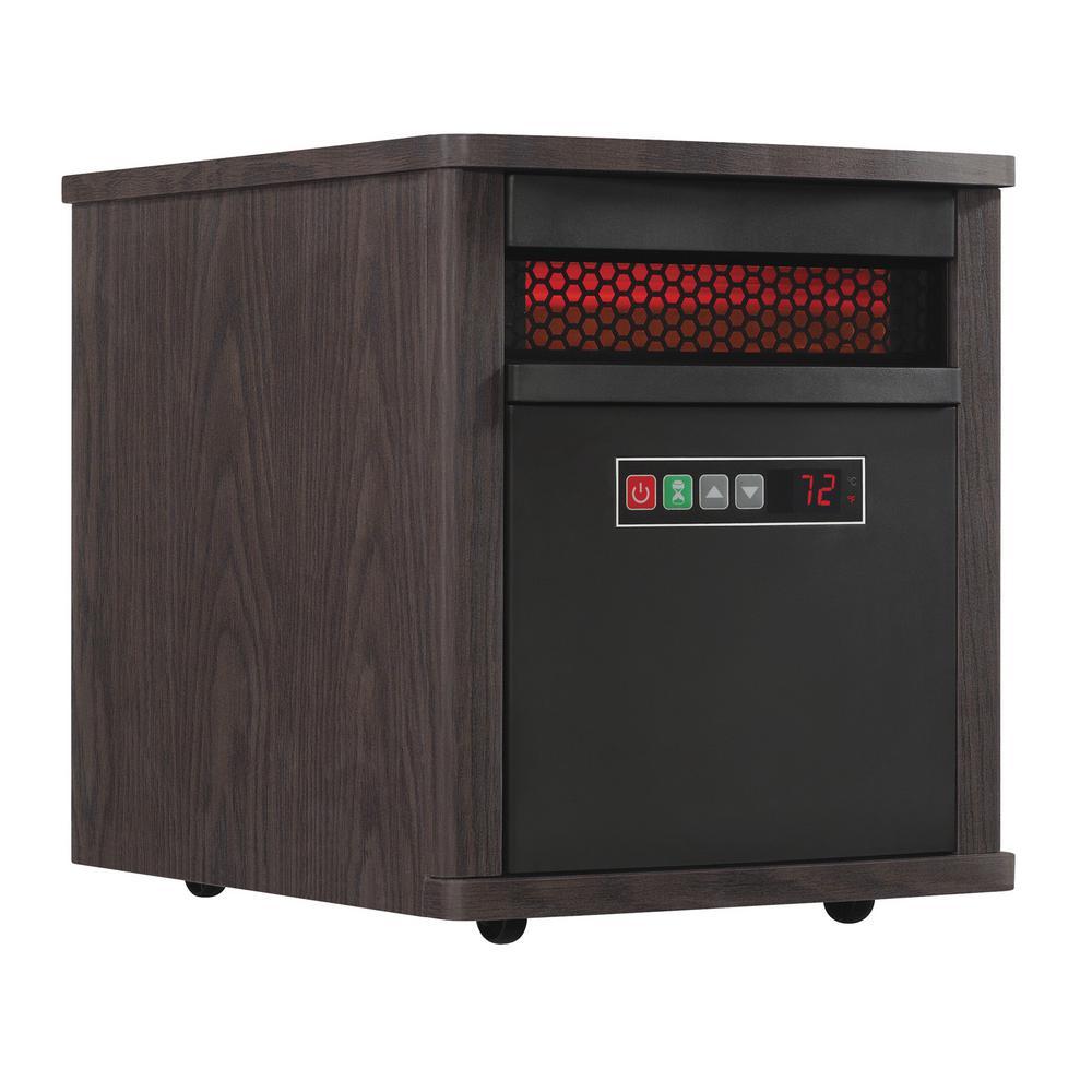 Duraflame Duraflame 1,500-Watt Electric Infrared Quartz Portable Heater, Brown