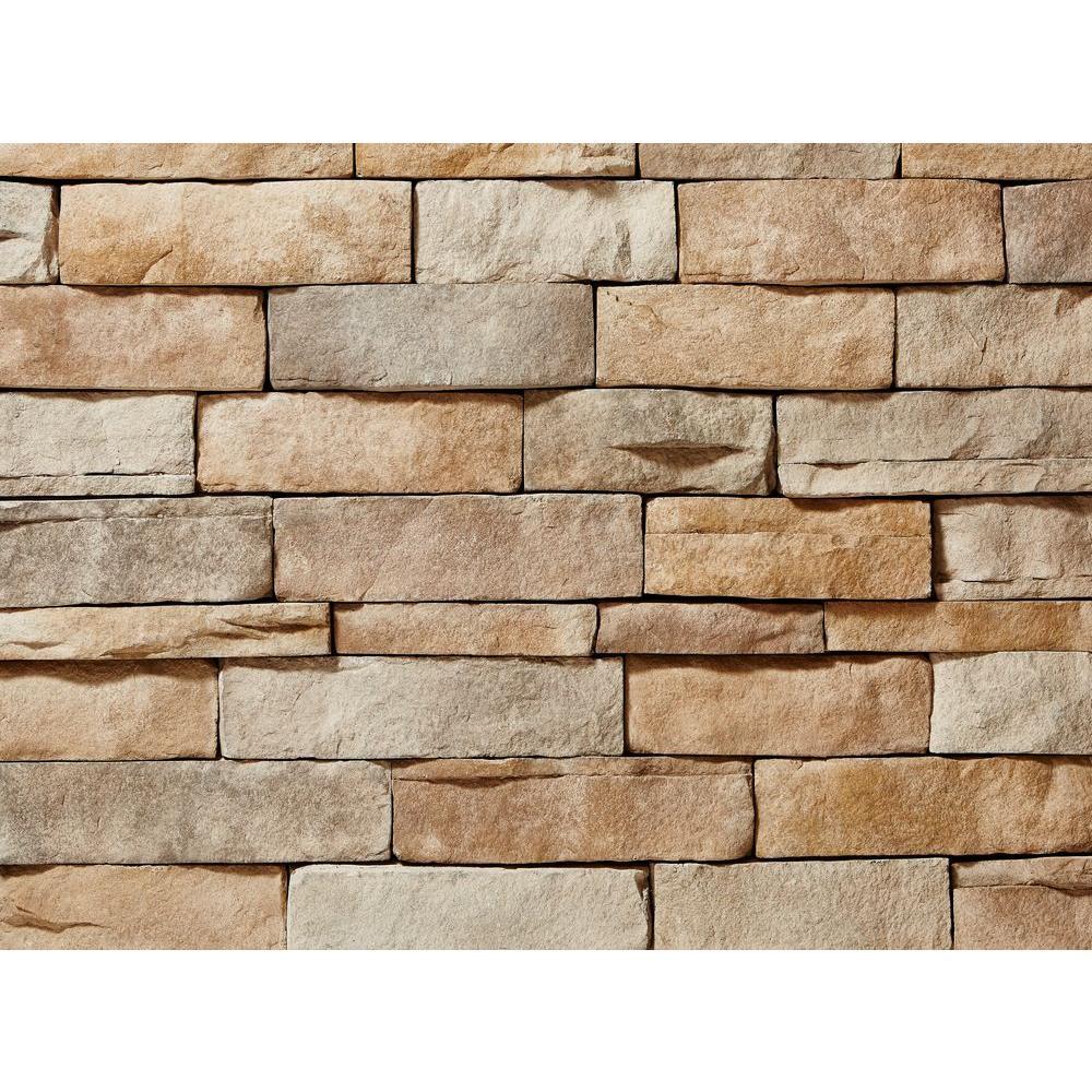 ClipStone Ledgestone Tan Corners 26-3/4 in. x 16 in. 8 lin. ft. Manufactured Stone (24-Piece per Carton)