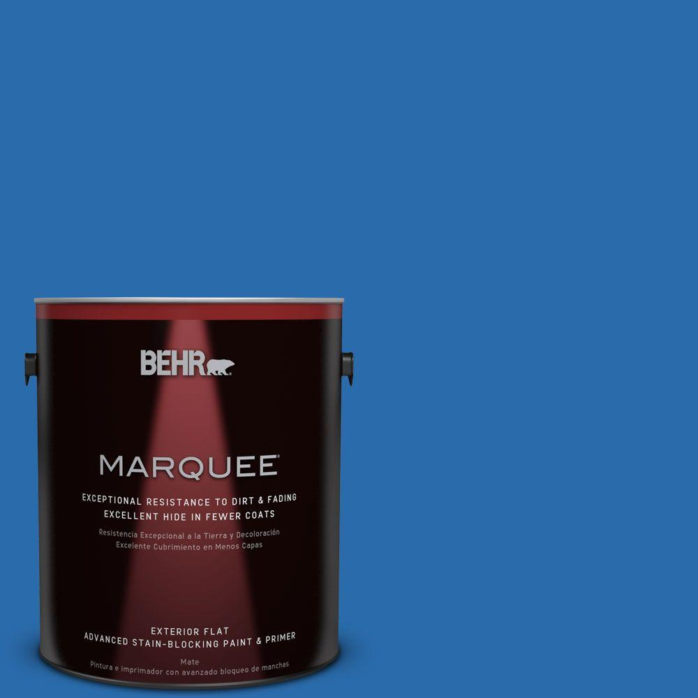 1 gal. #MQ4-24 Electric Blue Flat Exterior Paint