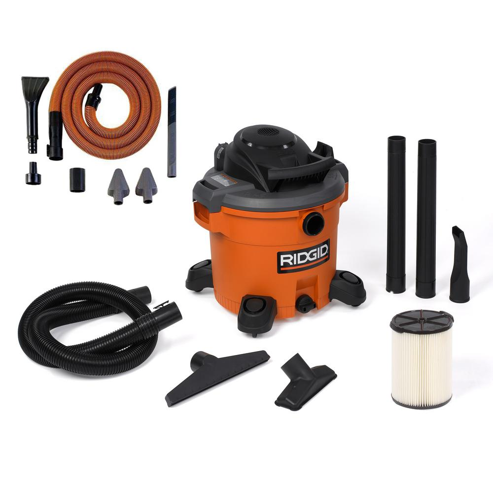 Ridgid 4 Gal 5 0 Peak Hp Portable Wet Dry Vacuum Wd4070