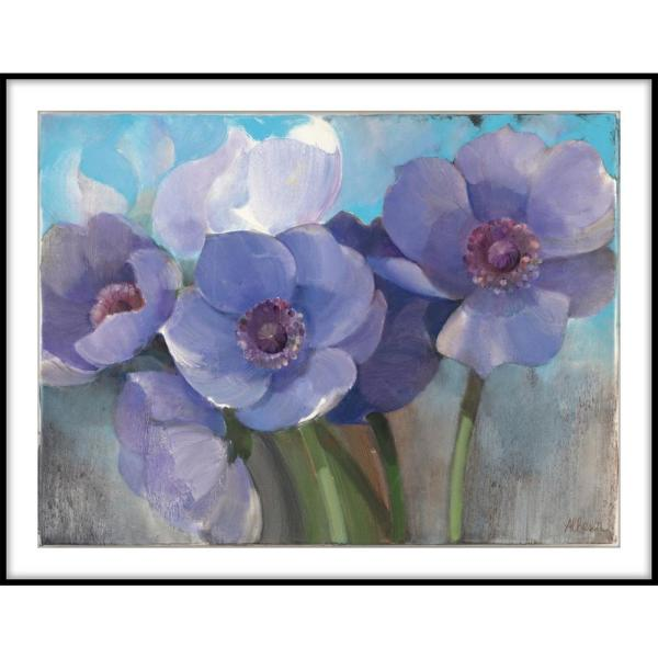9 75 In X 11 75 In Painted Flowers Framed Wall Art