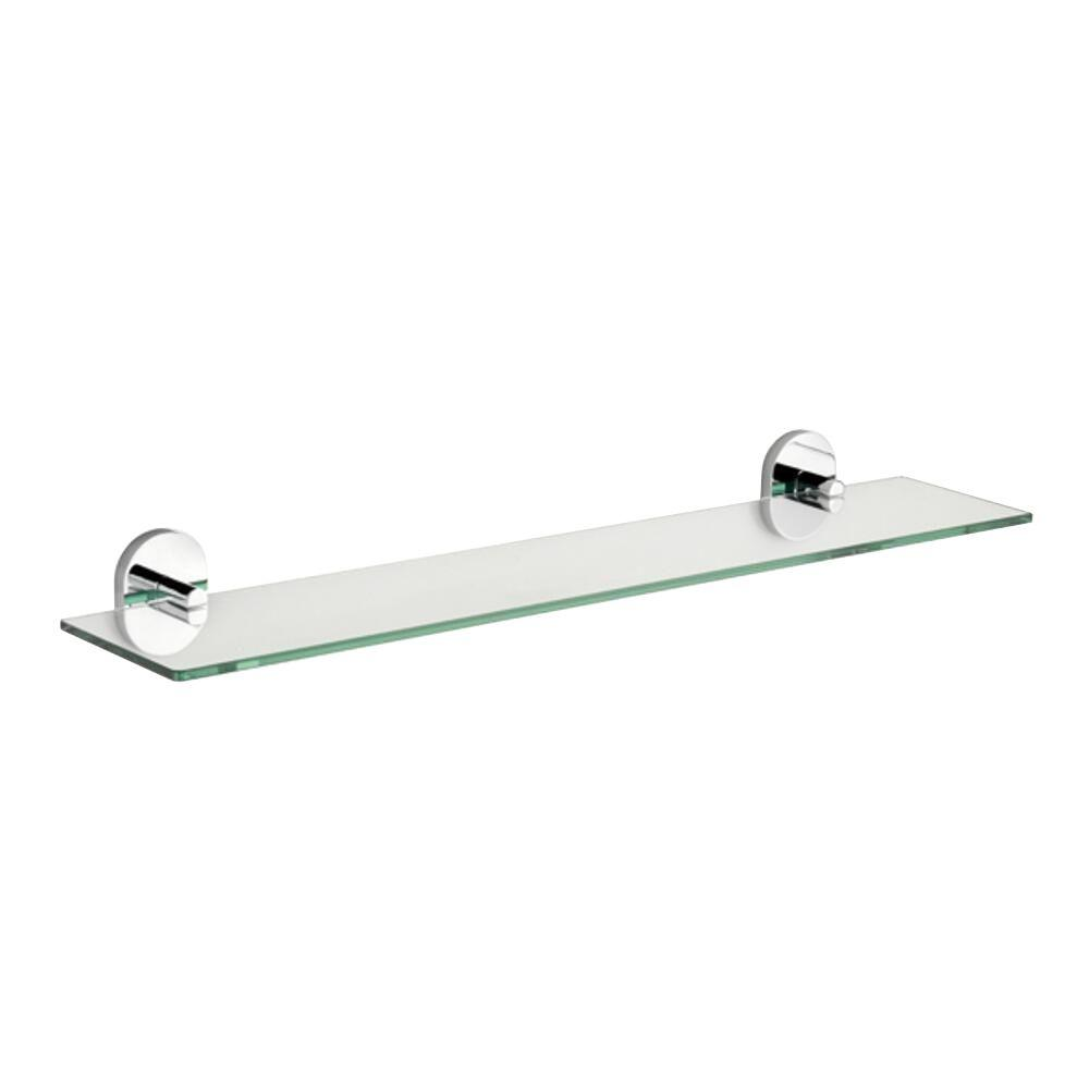 croydex pendle 5 28 in l x 2 12 in h x 24 30 in w wall mounted rh homedepot com bathroom shelves chrome and glass bathroom shelf chrome
