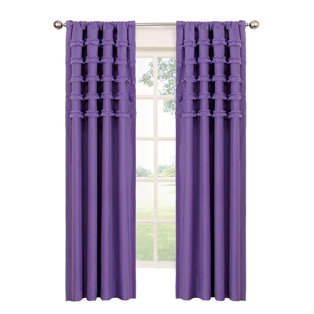 Upc 885308284211 Eclipse Curtains Drapes Ruffle Batiste Blackout Purple Polyester Rod Pocket