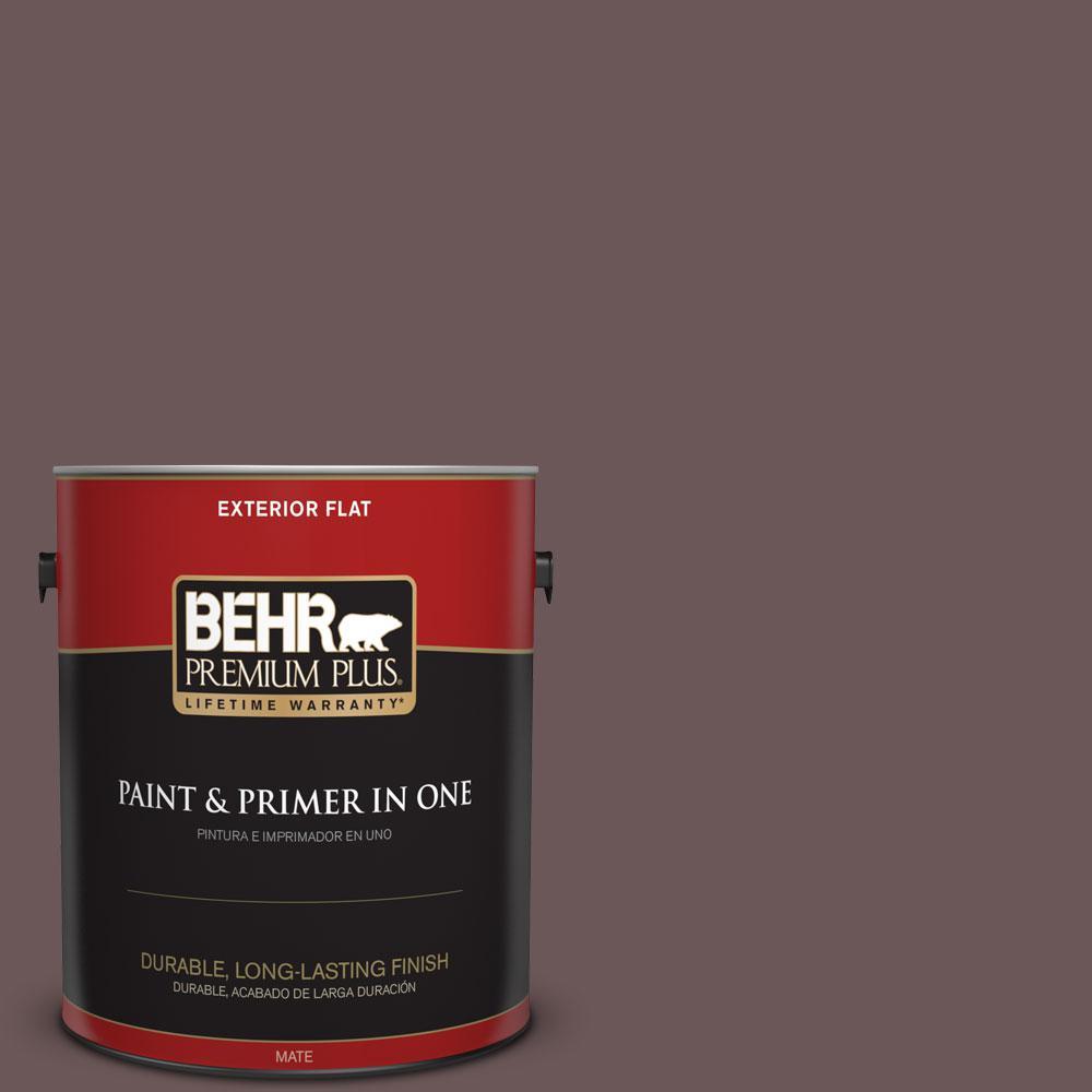 1-gal. #N120-7 Grand Plum Flat Exterior Paint