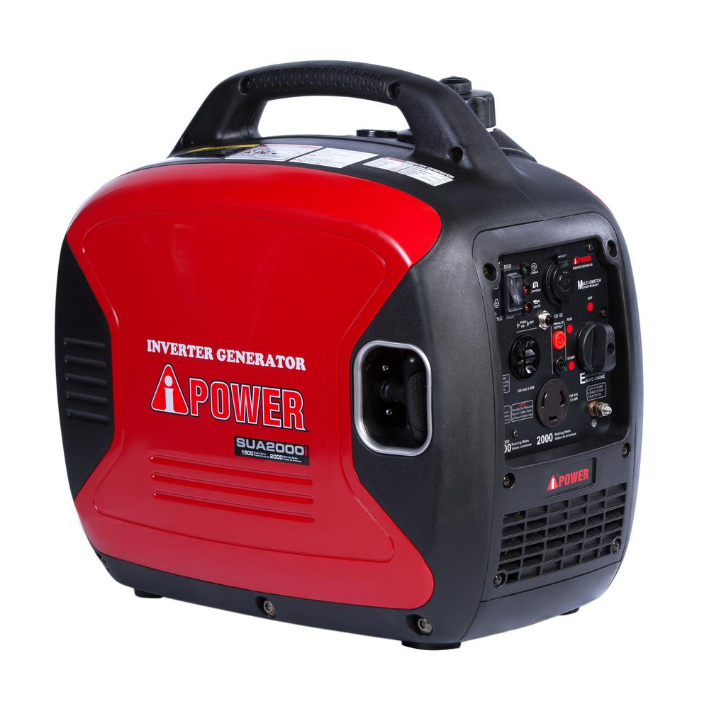 A ipower 1600 watt gasoline powered inverter portable for Generador inverter 2000w