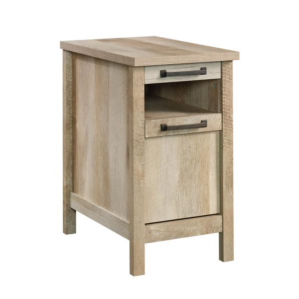 SAUDER Cannery Bridge Lintel Oak Storage Side Table 420337