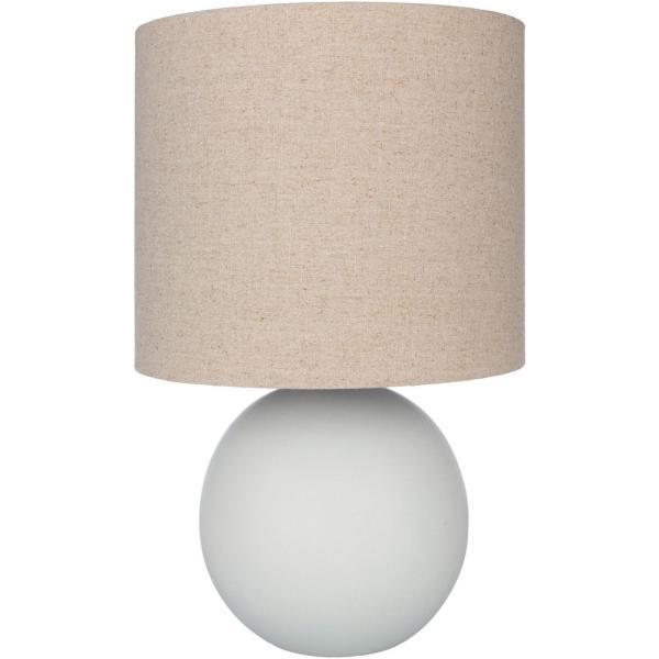 Rhys 21.5 in. Light Gray Indoor Table Lamp