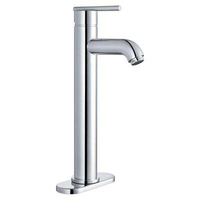 4 in. Centerset 1-Handle Lavatory Faucet in Polished Chrome with Pop-Up Drain