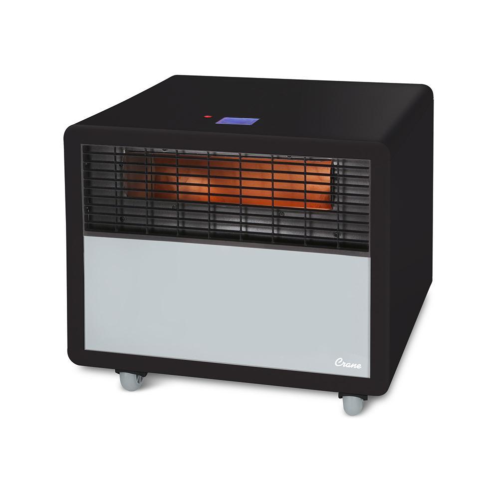 Crane 1,500-Watt Infrared Smart Heater - Black, Blacks