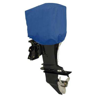 27 in. L x 24.5 in. W x 16 in. H Blue Boat Motor Engine Cover Size BM-2