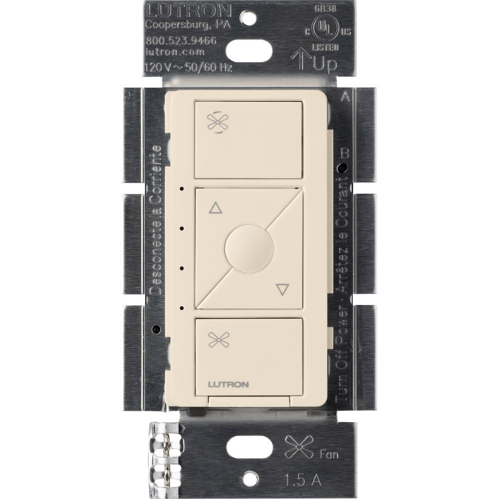 Single-Pole Caseta Wireless Smart Fan Speed Control, Light Almond
