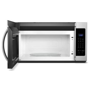 5 Whirlpool 1 7 Cu Ft Over The Range Microwave In Fingerprint Resistant Stainless Steel With