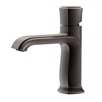 Single Hole Single-Handle Bathroom Faucet in Oil Rubbed Brown