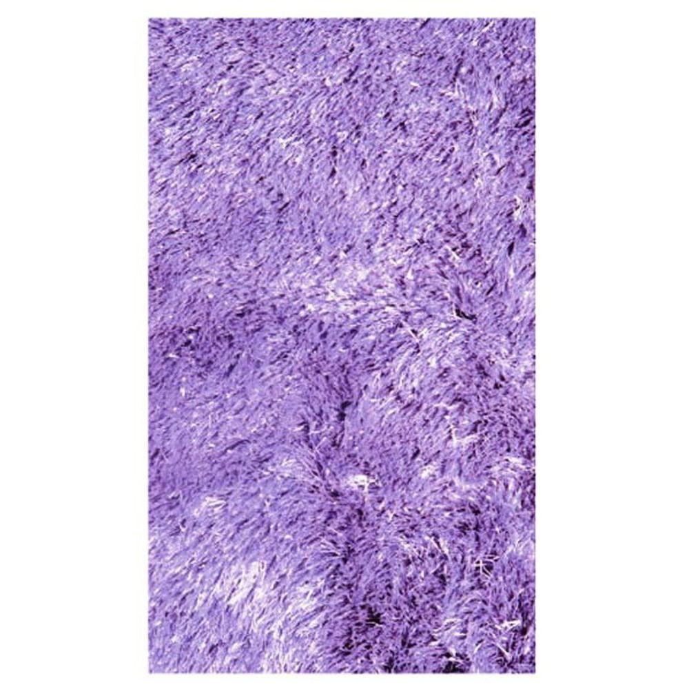 LA Rug Silky Shag Lavender 4 ft. 11 in. x 7 ft. 3 in. Area Rug