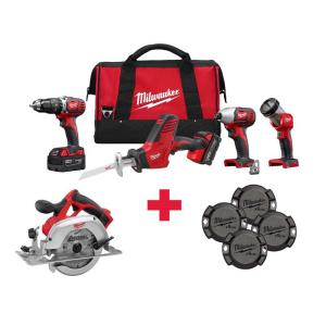 Milwaukee M18 18-Volt Lithium-Ion Cordless Combo Kit (4-Tool) with Free M18 Circ... by Milwaukee
