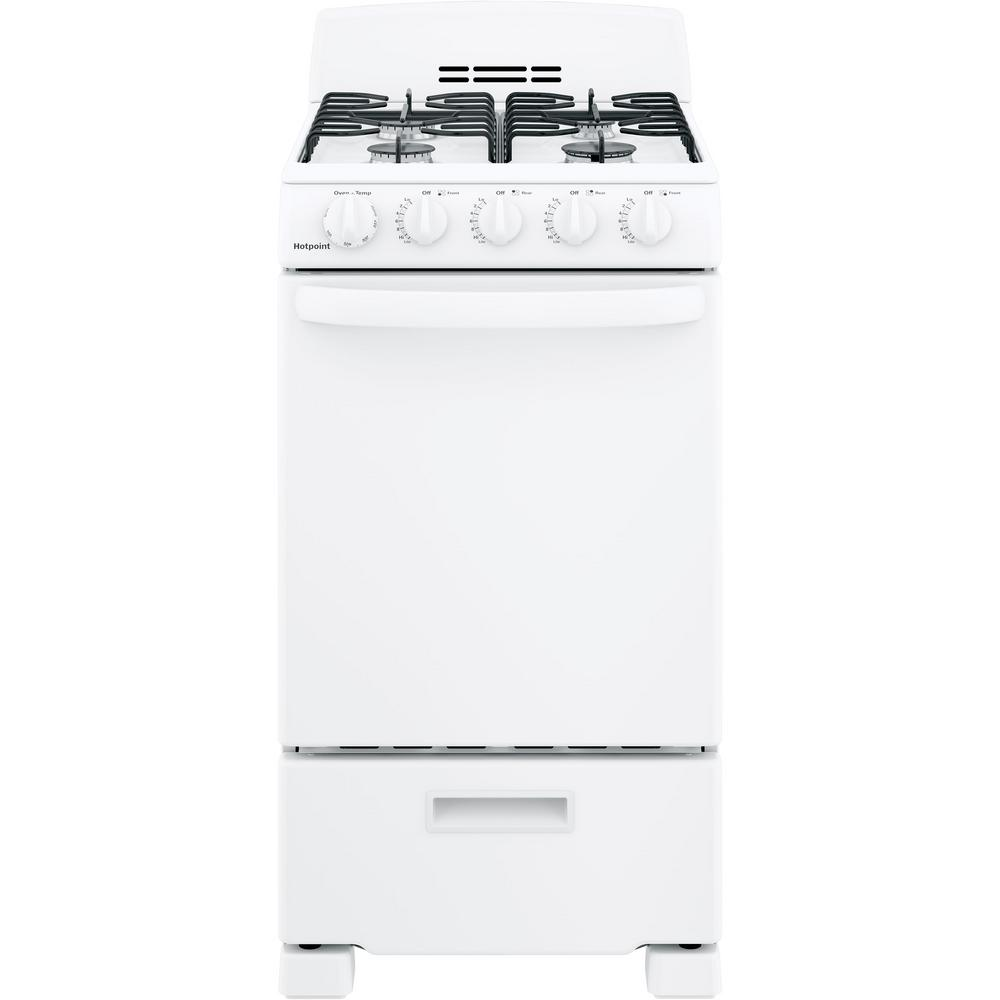 hotpoint 20 in 2 3 cu ft gas range oven in white rgas200dmwwgas range oven in white rgas200dmww the home depot