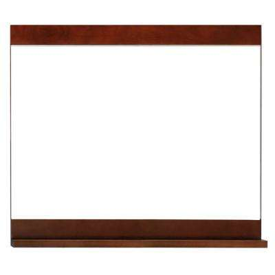 Vero 26 in. L x 30 in. W Wall Mounted Mirror in Chocolate