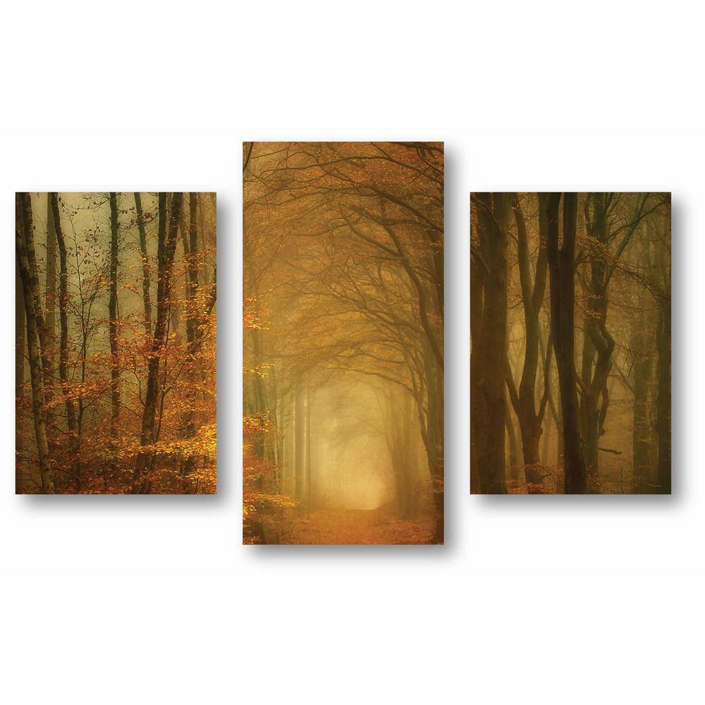 Courtside Market Autumn Glow 3 Piece Canvas Printed Wall Art Set Web Mcls211 The Home Depot