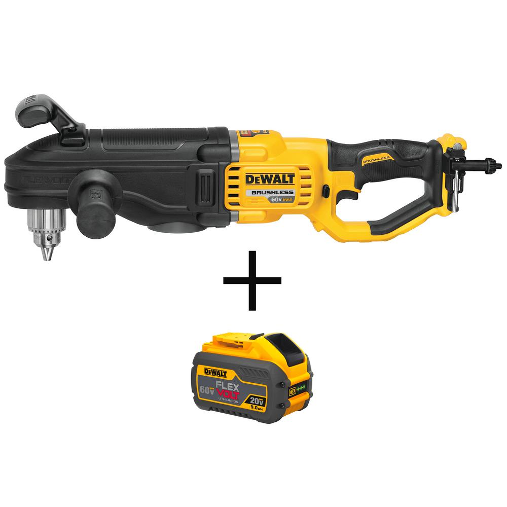 DEWALT FLEXVOLT 60-Volt MAX Lithium-Ion Cordless 1/2 in. Stud and Joist Drill (Tool-Only) with FLEXVOLT Li-Ion Battery Pack