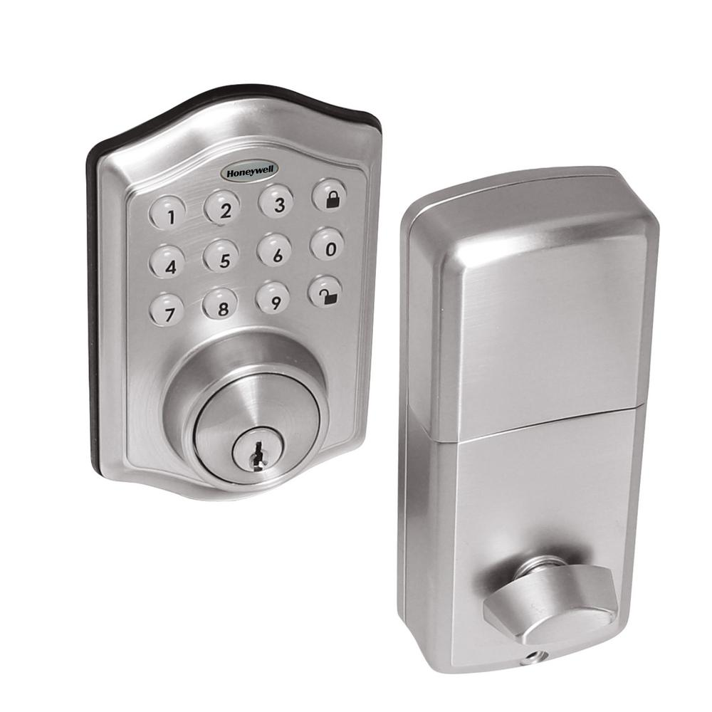 Electronic Keypad Satin Nickel Deadbolt Lock