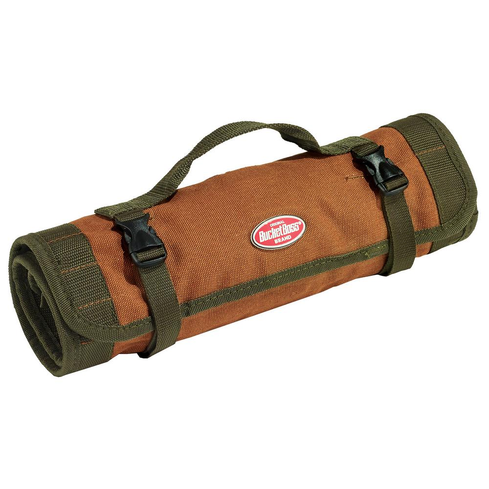 Bucket Boss 3 8 In Tool Bag With 25 Pockets In Brown