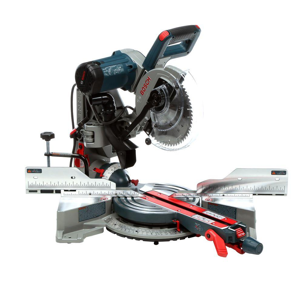 Bosch 15 Amp Corded 10 in. Dual-Bevel Sliding Glide Miter Saw with 60-Tooth Carbide Saw Blade