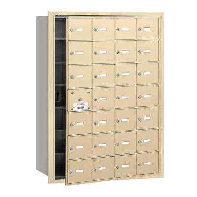 Sandstone USPS Access Front Loading 4B Plus Horizontal Mailbox with 28A Doors (27 Usable)