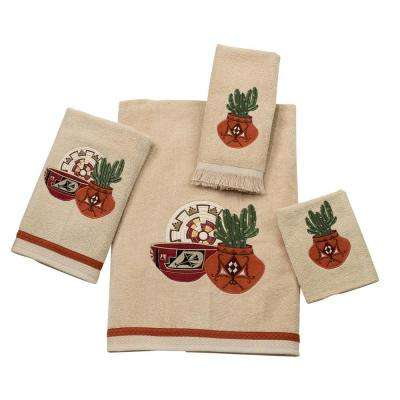 Sun Valley 4-Piece Bath Towel Set in Linen