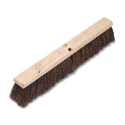 24 in. Floor Brush Head with 3-1/4 in. Natural Palmyra Fiber