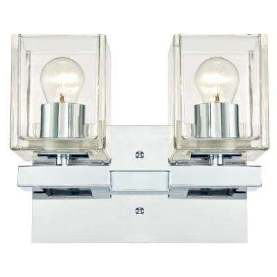 Nyle 2-Light Chrome Wall Mount Bath Light