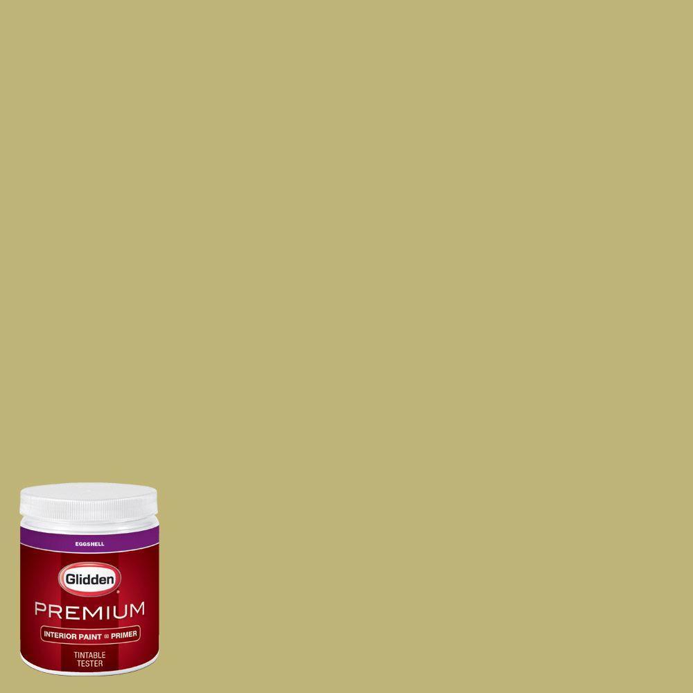 Glidden Premium 8 Oz Hdgg08u Tree Frog Green Eggshell Interior Paint Sample With Primer