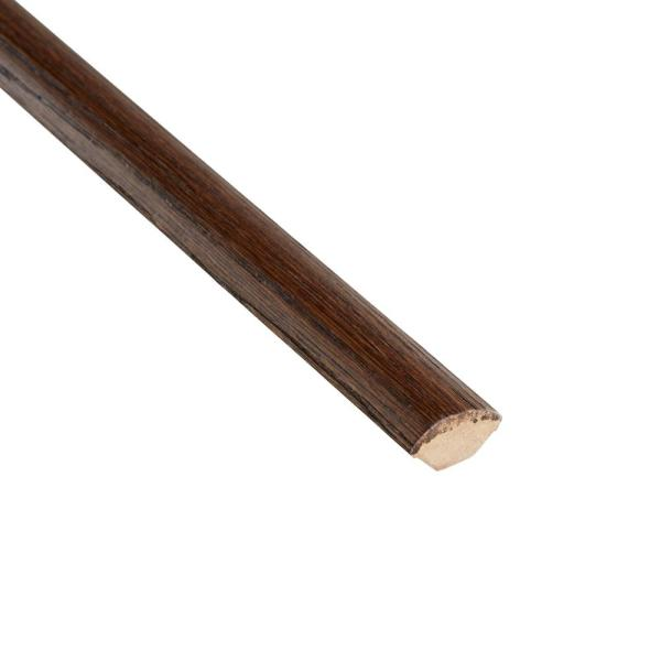 Distressed Archwood Hickory 3/4 in. Thick x 3/4 in. Wide x 94 in. Length Quarter Round Molding