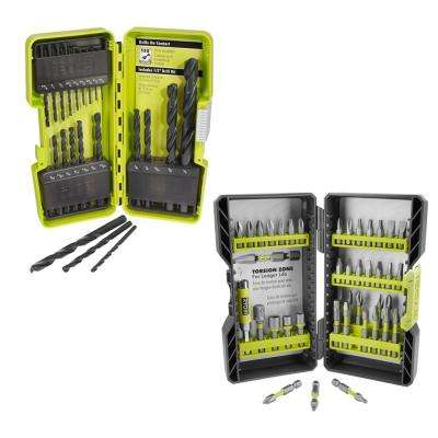 Black Oxide Drill Bit Set (21-Piece) and Impact Rated Driving Kit (40-Piece)