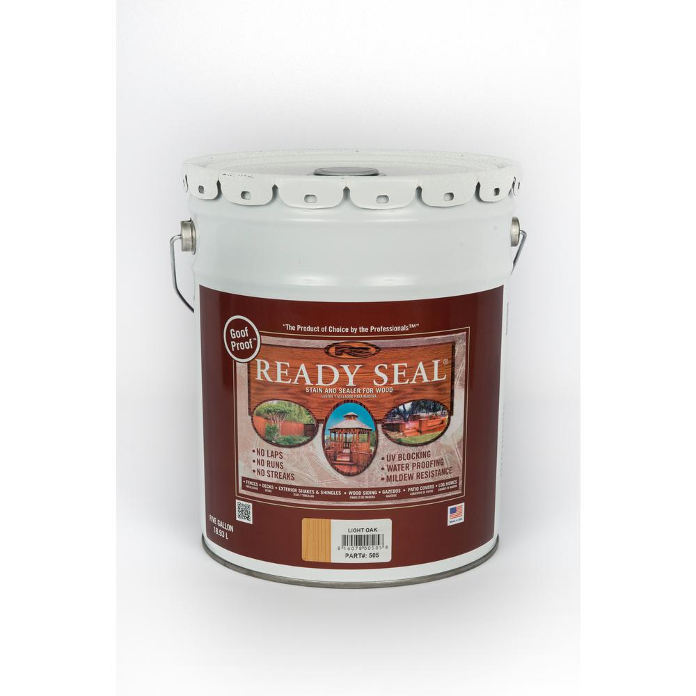 5 gal. Light Oak Exterior Wood Stain and Sealer