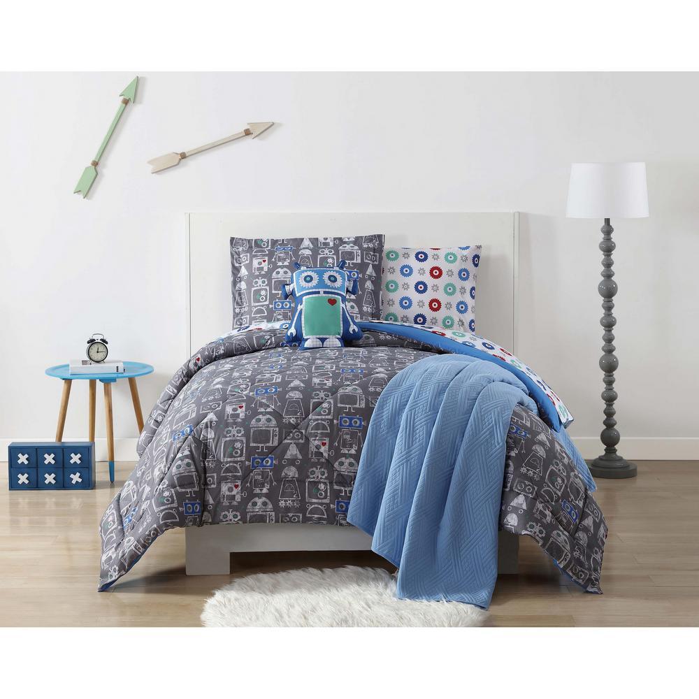 Roboto Printed Multiple Full / Queen Comforter Set